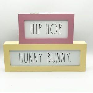 Rae Dunn HIP HOP HUNNY BUNNY Signs